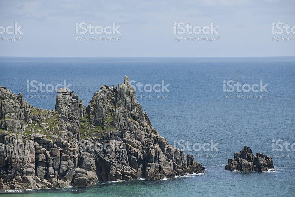 Cornish Coast near Logans Rock stock photo