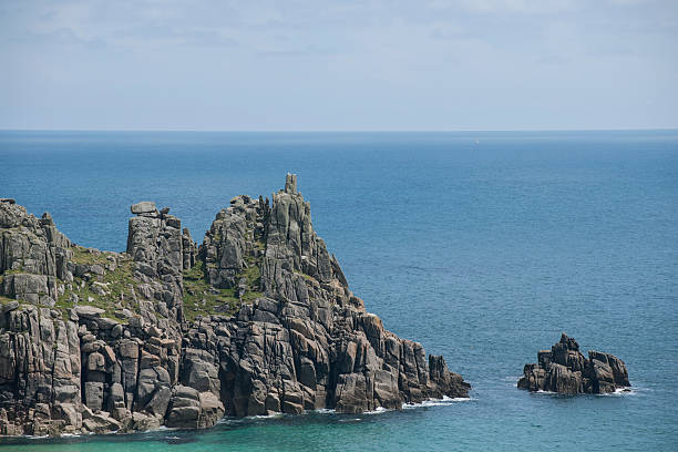 cornish coast near logans rock - cornwall stock pictures, royalty-free photos & images