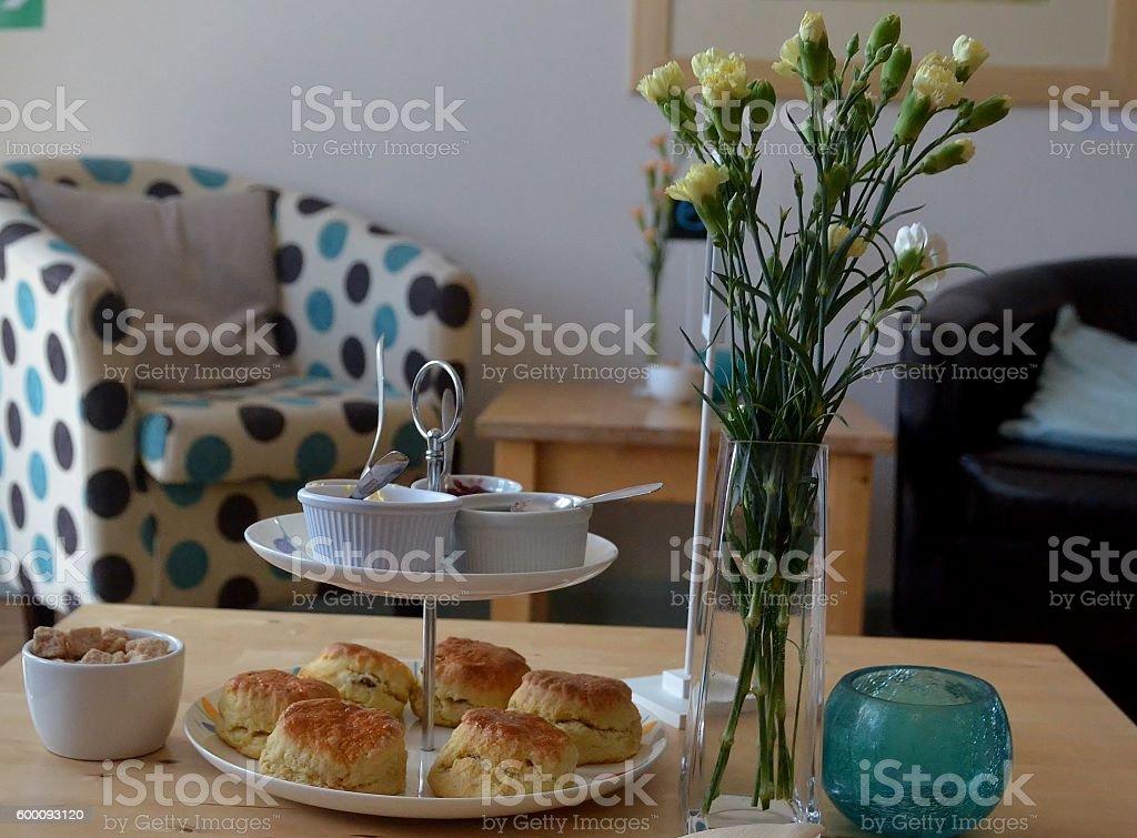 Cornish Cream Tea stock photo