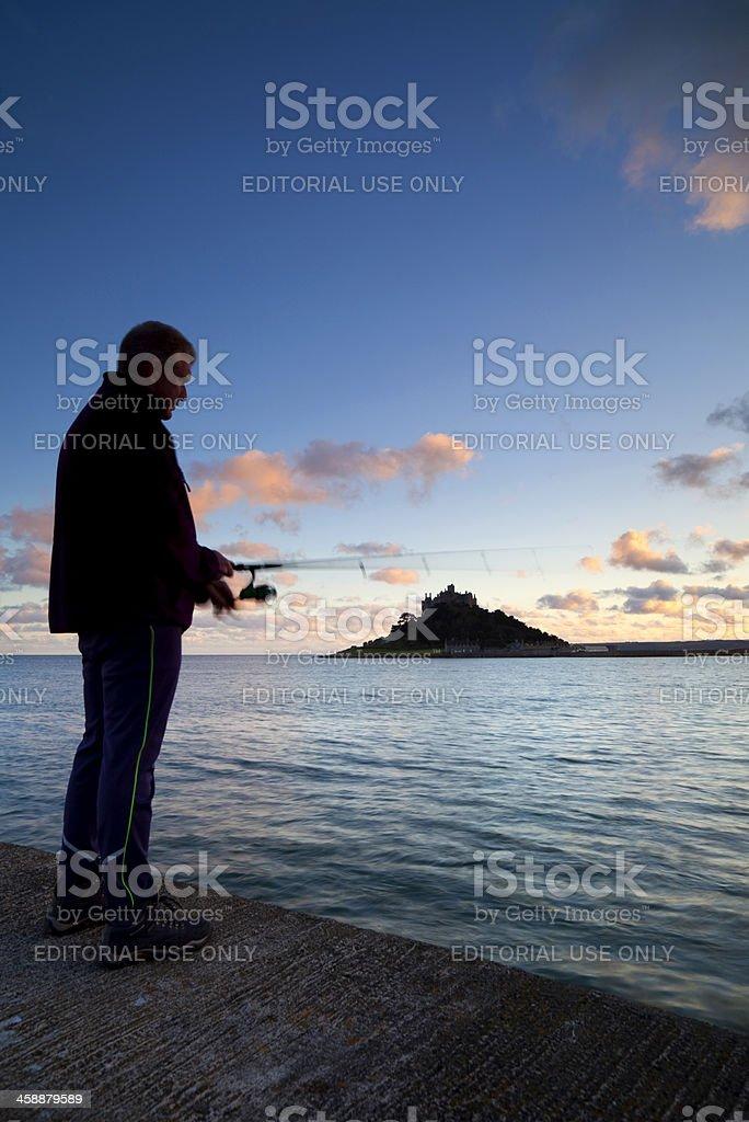 Cornish Fisherman St Michael's Mount royalty-free stock photo