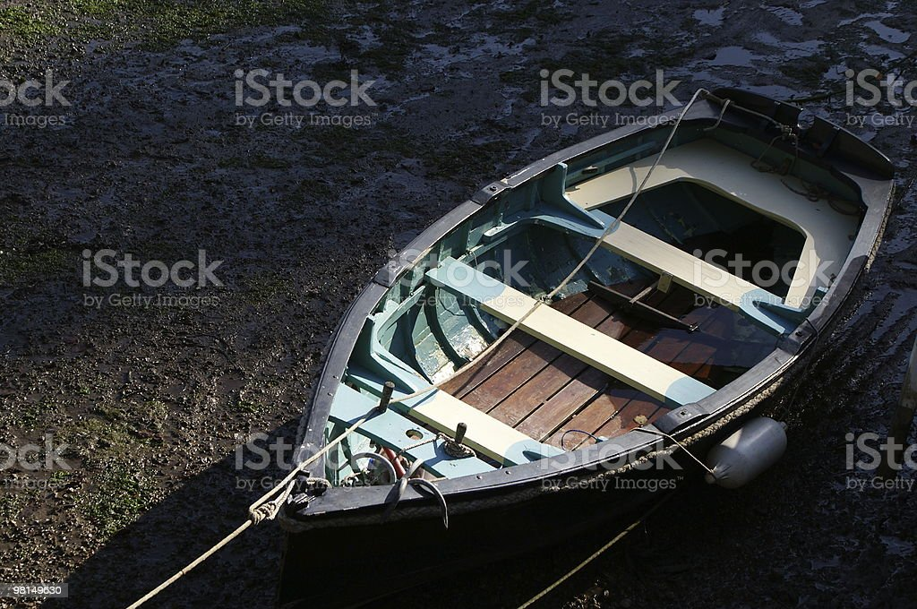 cornish Barca da pesca al tramonto foto stock royalty-free