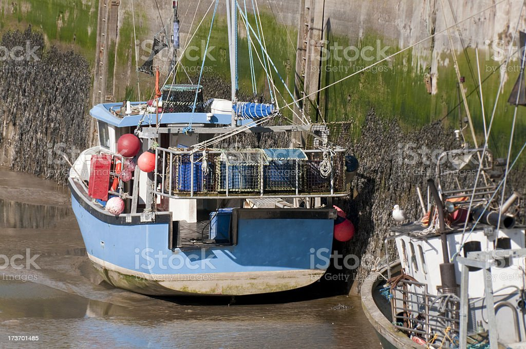 Cornish Fishing Boat stock photo