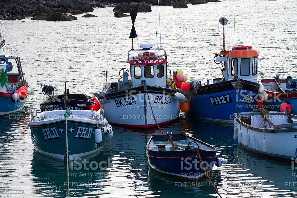 Cornish Fishing Boats stock photo