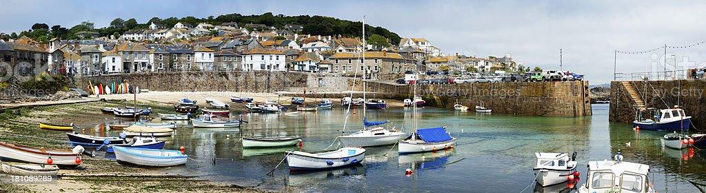 Cornish Fishing Village of Mousehole stock photo