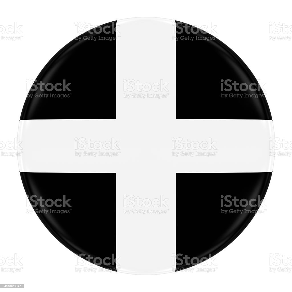 Cornish Flag Badge stock photo