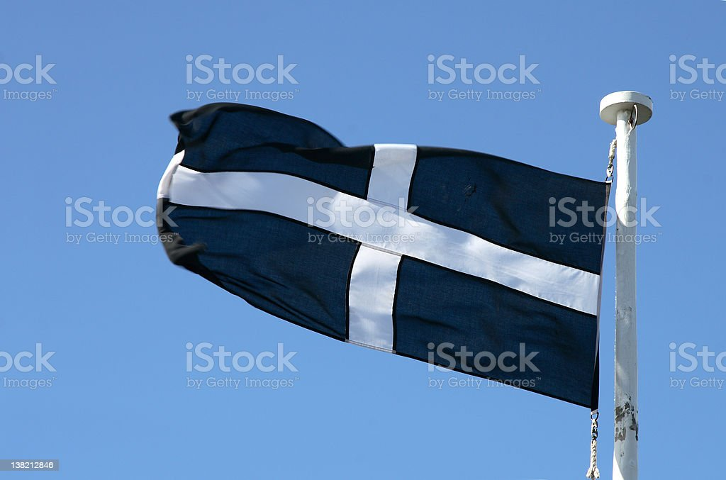 Cornish Flag stock photo
