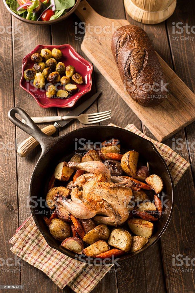 Cornish Game Hen stock photo