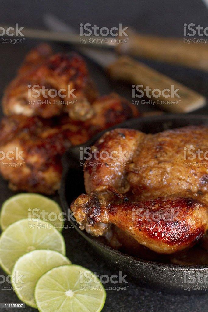 cornish hen - macro stock photo