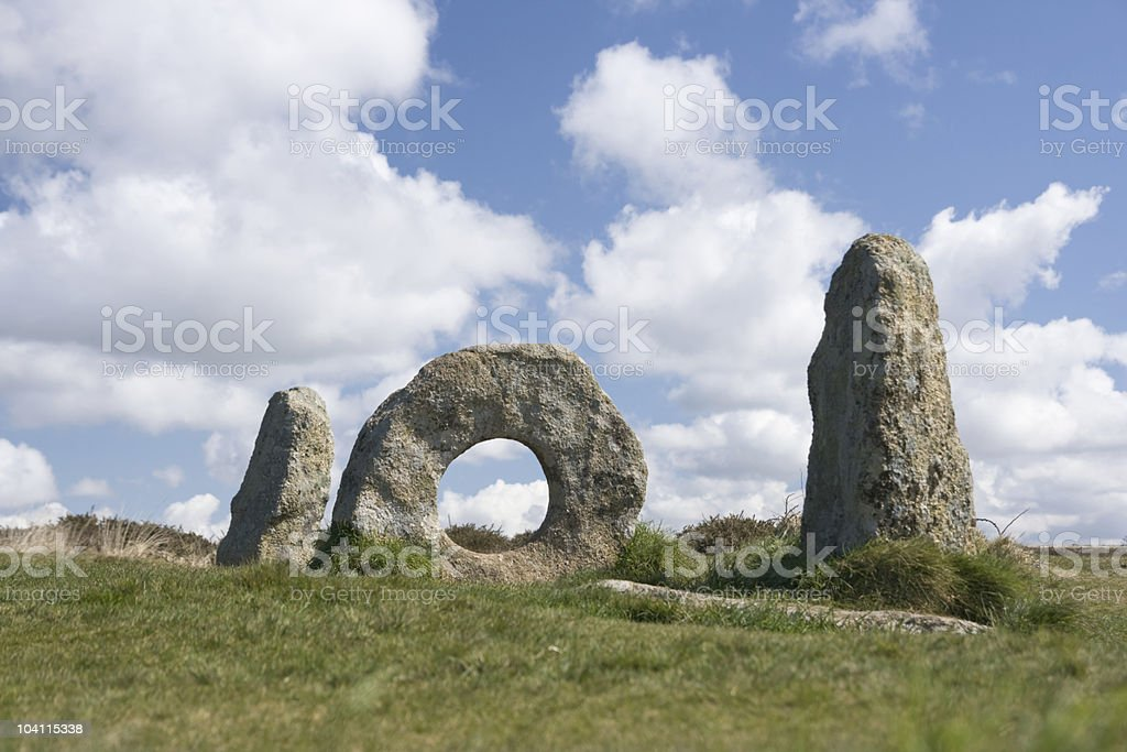 Cornish Megalithic Monument - 'Men An Tol' royalty-free stock photo