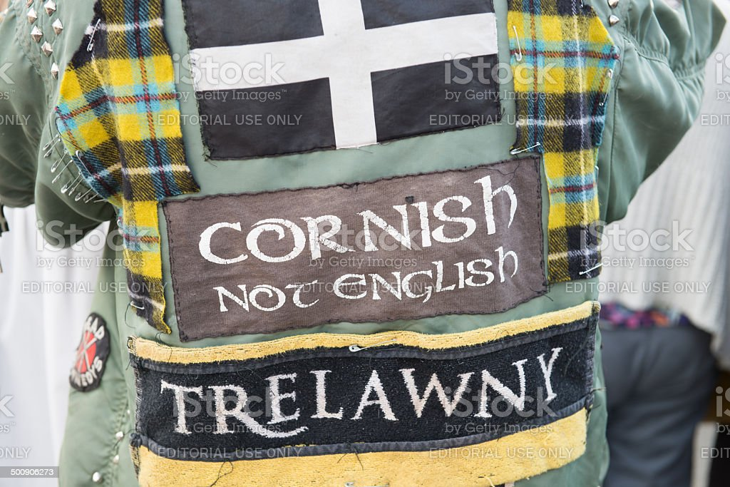 Cornish not English. stock photo