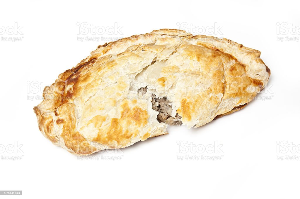 Cornish pastry isolated on a white background. royalty-free stock photo