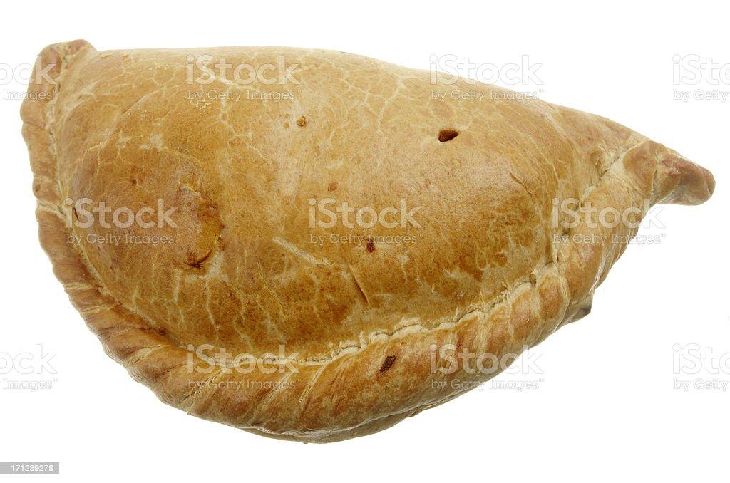 Cornish Pasty Isolated On White stock photo