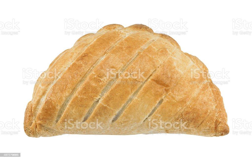 Cornish pasty isolated stock photo
