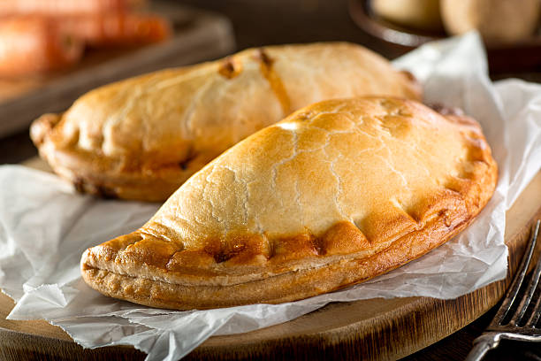 cornish pasty - savory food stock photos and pictures