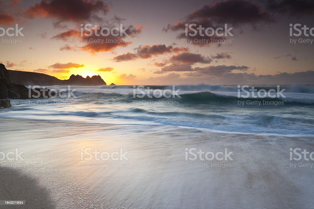 cornish Sunrise stock photo