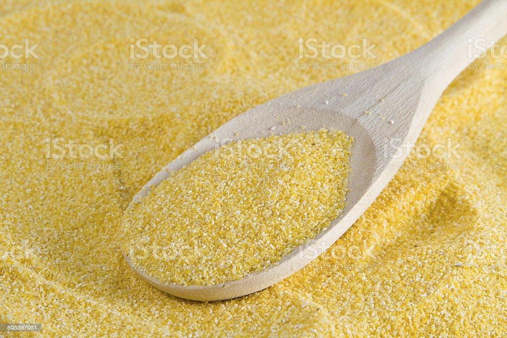 cornmeal flour stock photo
