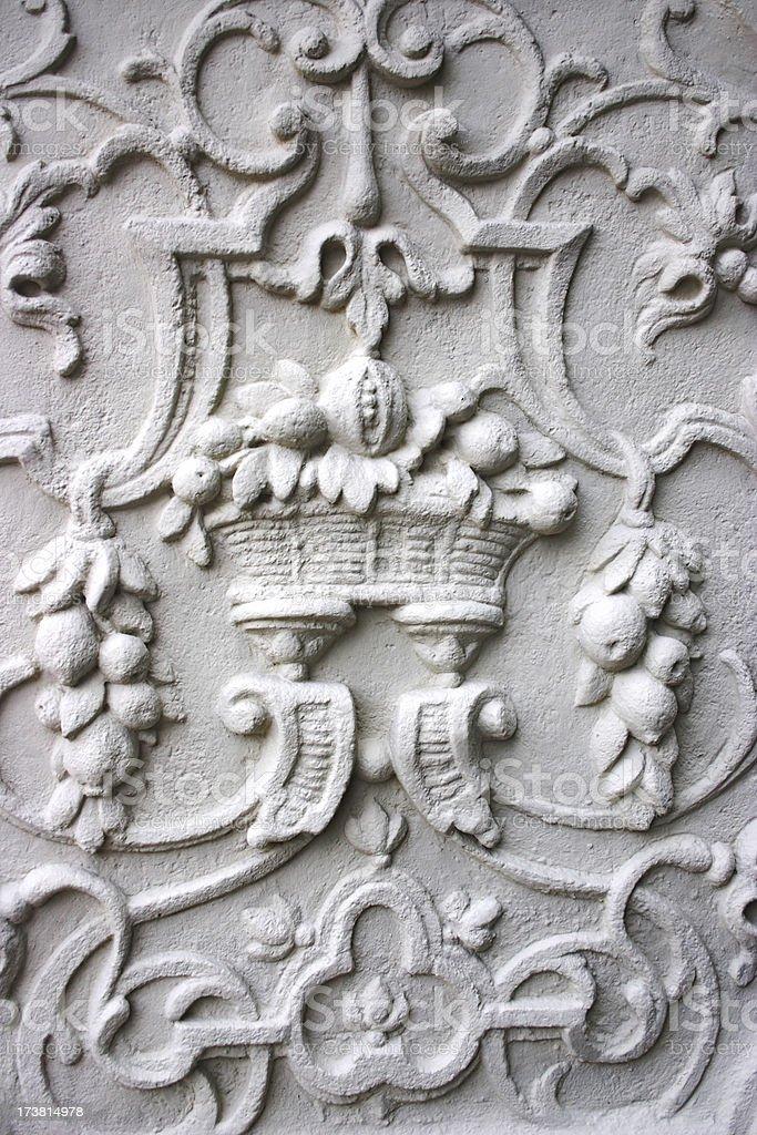 Cornocupia in stucco stock photo