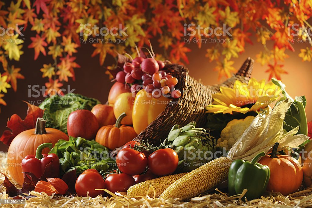 Cornucopia royalty-free stock photo