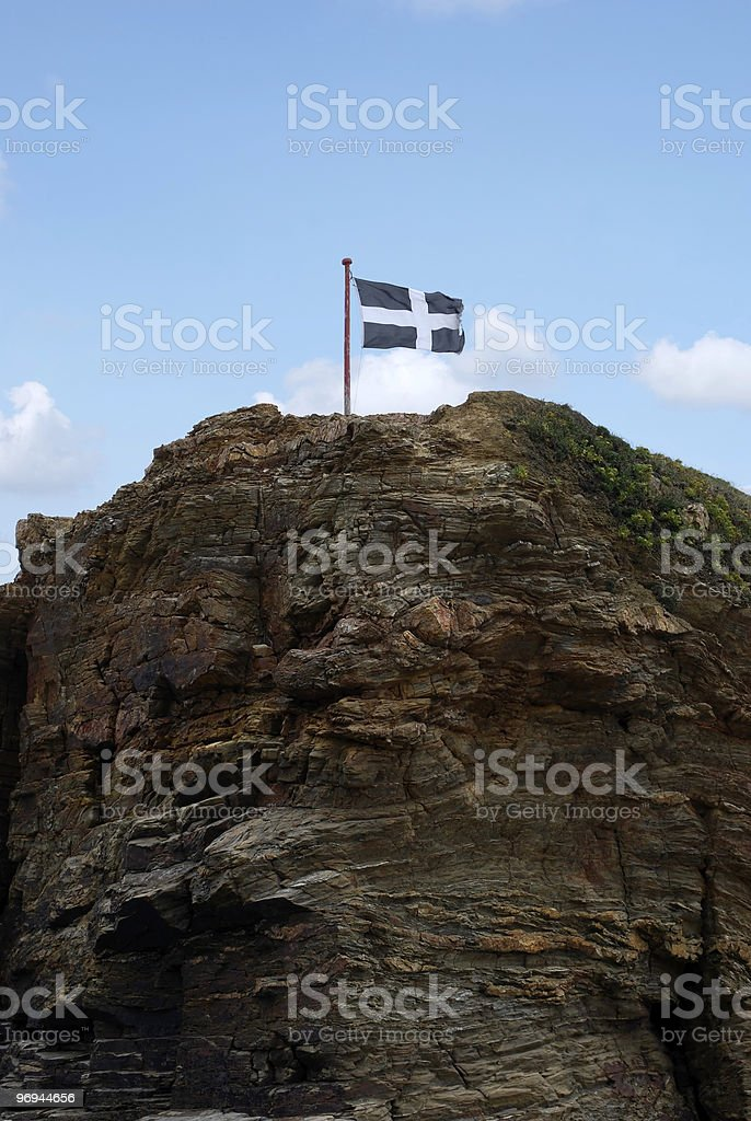 Cornwall Flag royalty-free stock photo