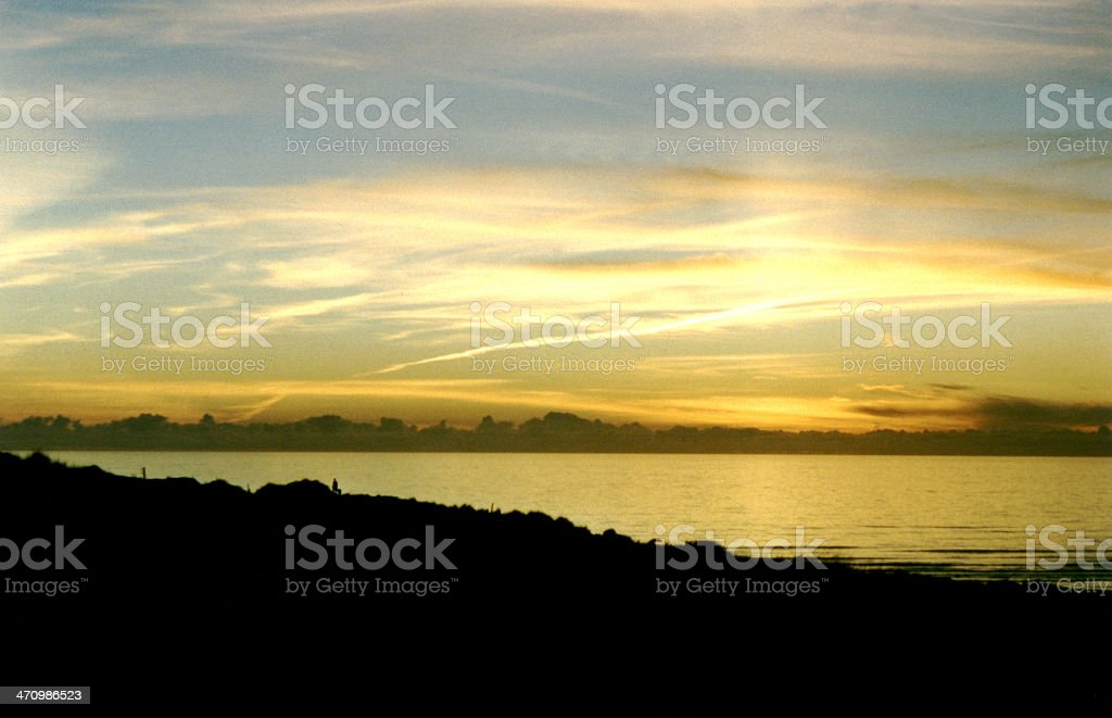 cornwall sunset royalty-free stock photo