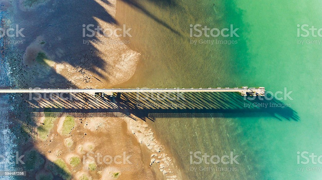 Cornwallis Wharf, Auckland, New Zealand. stock photo
