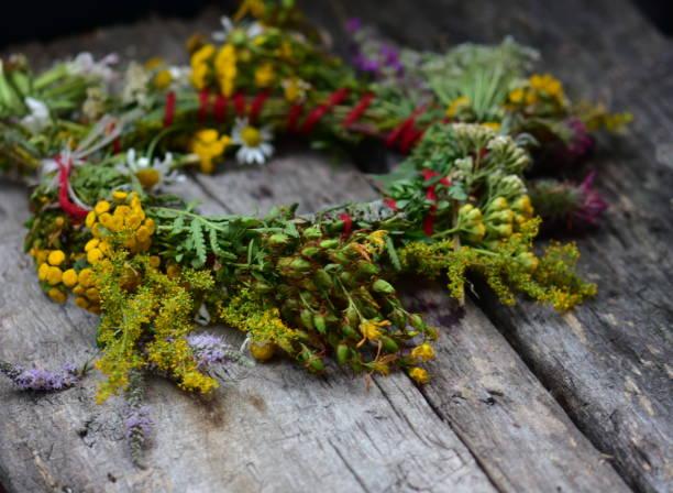 Corolla von frischen Wiesenblumen – Foto