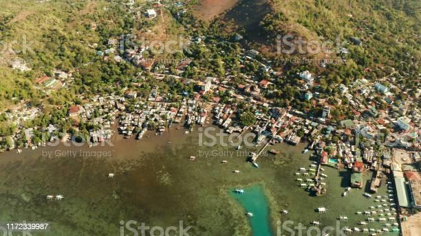 Coron Town Luftansicht Philippinen Palawan Busuanga Stockfoto und mehr Bilder von Anhöhe