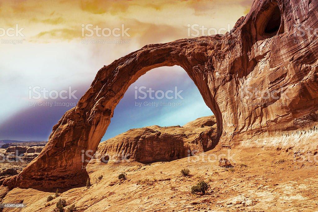 Corona Arch in Southern Utah stock photo