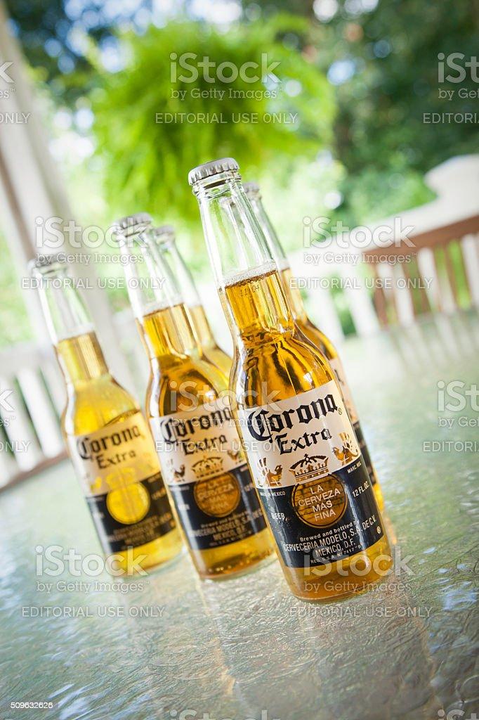 Corona Beers Outdoors stock photo