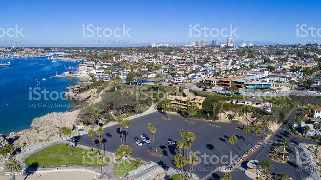 Corona Del Mar, Newport Beach, California stock photo