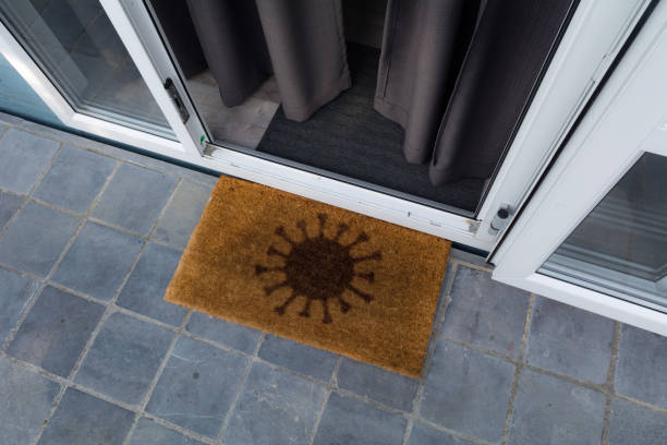 Corona doormat stock photo