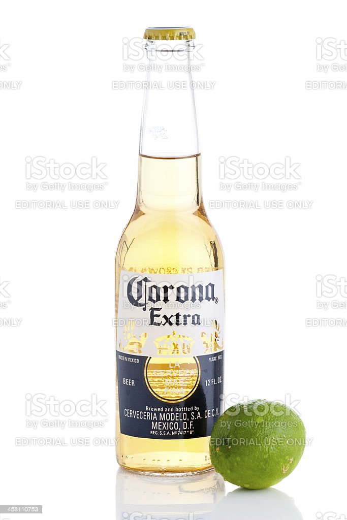 Corona Extra Beer Bottle With Lime Stock Photo Download Image Now Istock