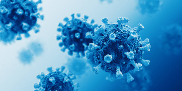 Corona Virus Covid-19 Blue stock photo