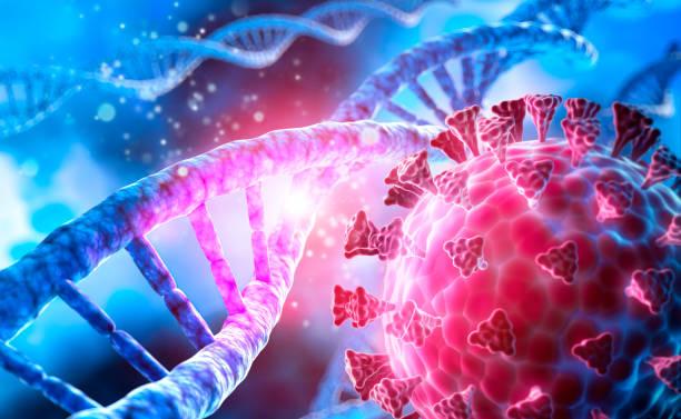 Corona Virus covid-19 DNA illustration stock photo