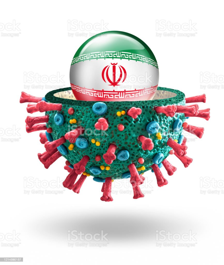 Corona Virus Covid19 Microscopic Macro Mockup With Iranian Flag Stock Photo Download Image Now Istock