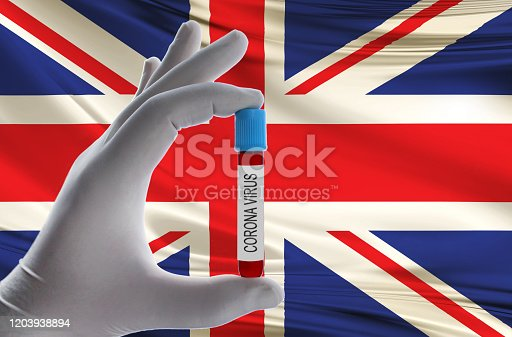 corona virus and england flag