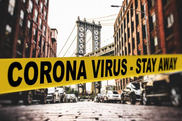 nycのコロナウイルス検疫 - corona newyork ストックフォトと画像