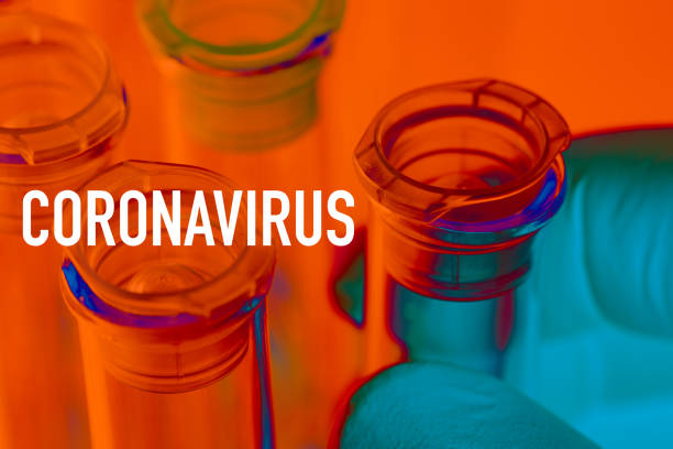 Coronavirus: Reagenzglas mit Coronavirus, covid-19 – Foto