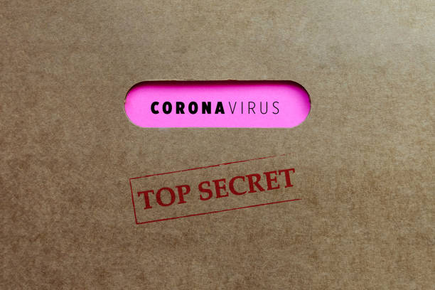 Corona virus. Top Secret File. stock photo