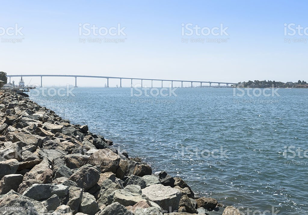 Coronado bay bridge in San Diego royalty-free stock photo