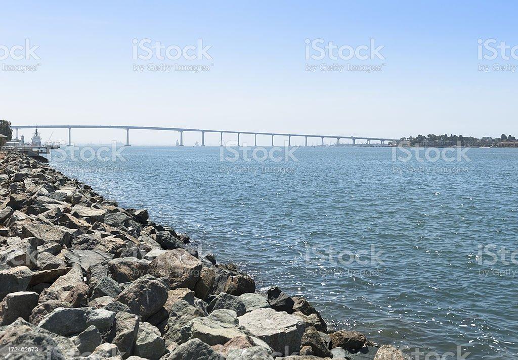 Coronado bay bridge in San Diego stock photo
