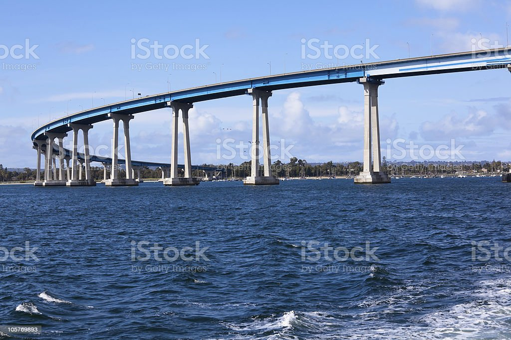 Coronado Bay Bridge stock photo