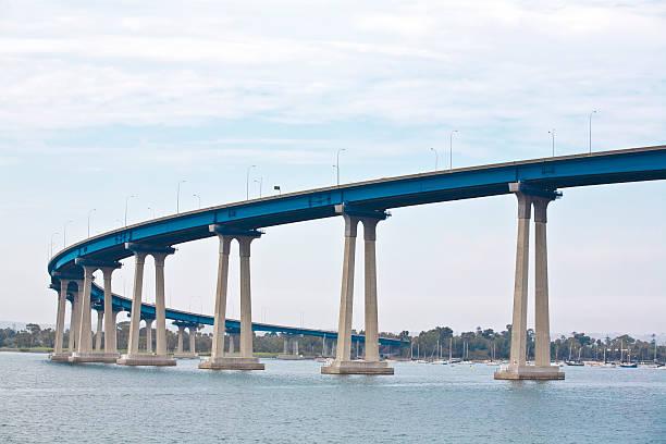 Coronado Bay Bridge (horizontal orientation) stock photo