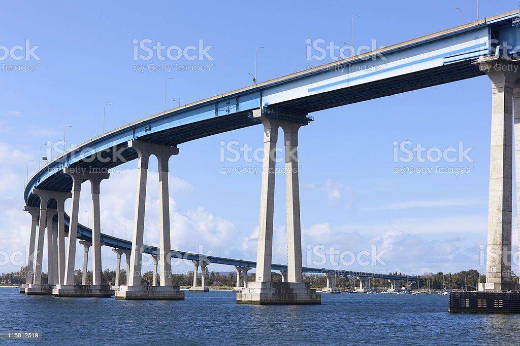 Coronado Bay Bridge royalty-free stock photo