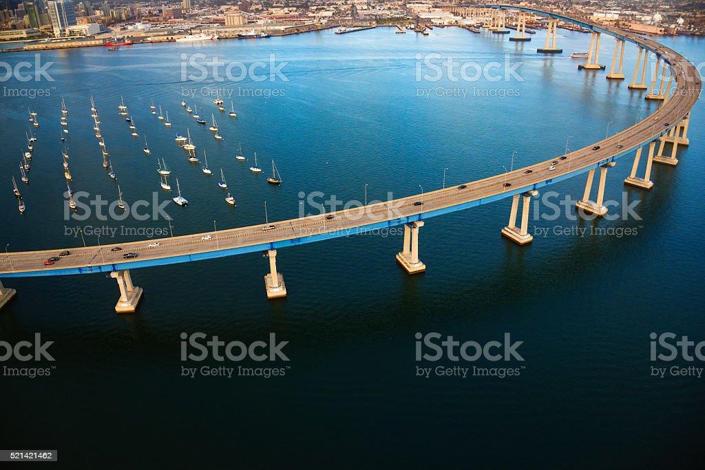 Coronado Bridge Aerial - San Diego California stock photo