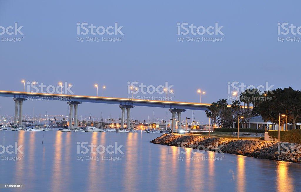 Coronado Bridge at Dusk stock photo