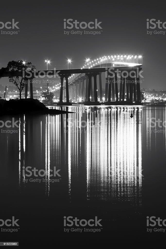 Coronado Bridge Night Lights stock photo