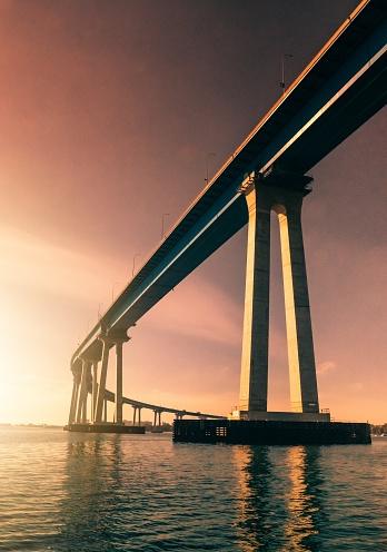 San Diego, CA - A winter sunset with Coronado Bridge