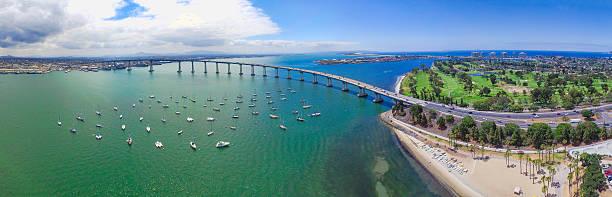 Coronado Bridge - San Diego, California stock photo