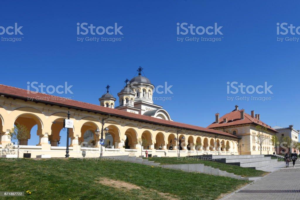 coronation cathedral of the Romanian Orthodox Church of  Alba Iulia, Transylvania, Romania stock photo